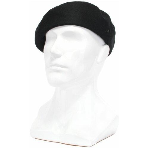 Берет Antar 74914Ч из шерстяной ткани, размер 58-59, черный