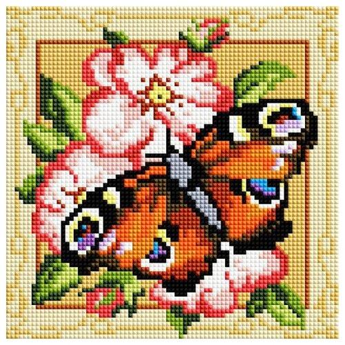 Мозаичная картина на подрамнике Павлиний глаз