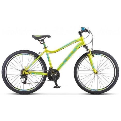 Велосипед Stels Miss 5000 V 26 К010 (2021) 16 серебристый/салатовый (требует финальной сборки) велосипед stels 2612 v