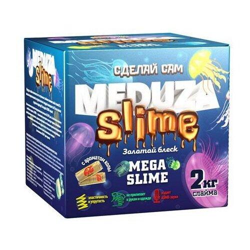 Набор для экспериментов ВИСМА Медуза слайм Мега слайм Золотой блеск