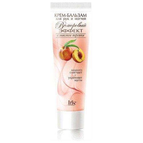 Крем-бальзам для рук IRIS cosmetic Велюровый эффект с маслом персика 100 мл