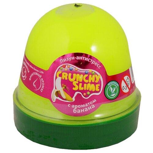 Лизун Mr.Boo! Crunchy slime с ароматом банана желтый