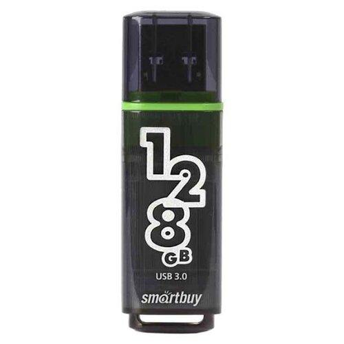 Фото - Флешка SmartBuy Glossy USB 3.0 128 GB, темно-серый флешка smartbuy glossy usb 2 0 64 gb оранжевый