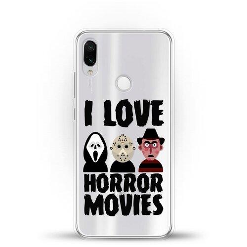 Силиконовый чехол Фильмы Ужасов на Xiaomi Redmi Note 7 Pro