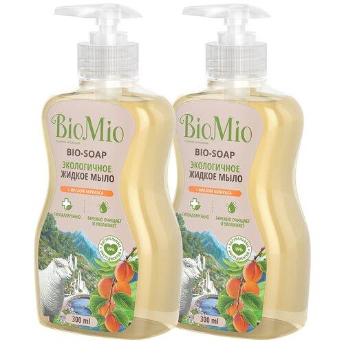Жидкое мыло BioMio с маслом абрикоса, 300 мл детское жидкое мыло biomio baby 300 мл