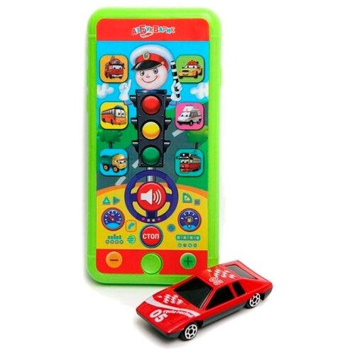 Купить Интерактивная развивающая игрушка Азбукварик Смартфончик Светофор, красный/зеленый, Развивающие игрушки