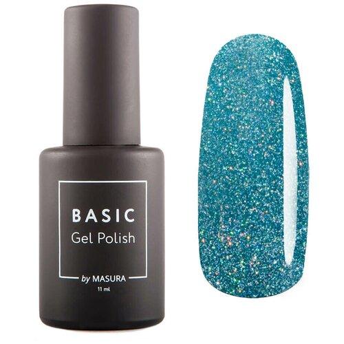 Гель-лак для ногтей Masura Basic, 11 мл, Тиловые хлопья гель лак для ногтей masura basic 11 мл саргассово море