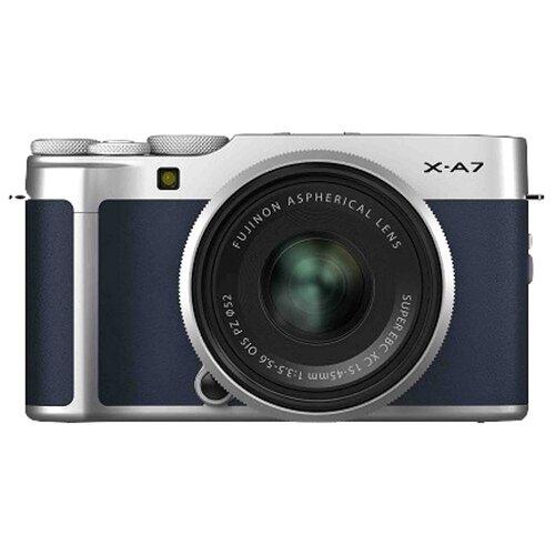 Фото - Фотоаппарат Fujifilm X-A7 Kit navy blue Fujinon XC 15-45mm 1:3.5-5.6 OIS PZ ранец globber globber рюкзак для самокатов junior navy blue