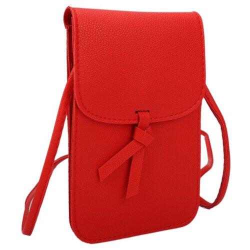 Сумка кросс-боди OrsOro, искусственная кожа, красный сумка тоут orsoro cw 967