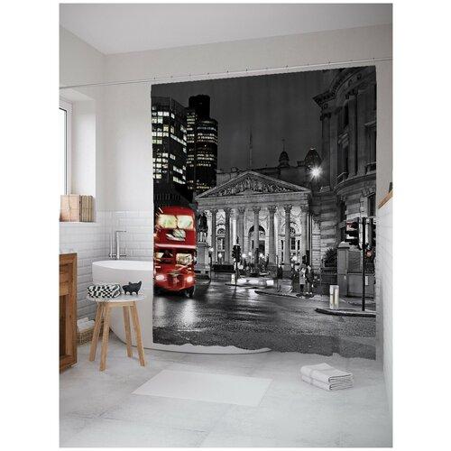 Фото - Штора для ванной JoyArty Ночь в Лондоне 180х200 (sc-3529) штора для ванной joyarty слон в душе 180х200 sc 8358