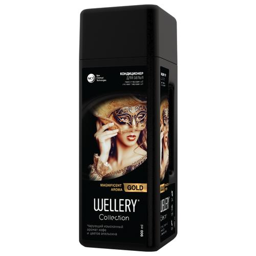 Фото - Wellery Парфюмированный кондиционер для белья Collection Gold с ароматом кофе и цветов апельсина, 0.9 л wellery кондиционер для белья wellery парфюмированный collection blue 900 мл