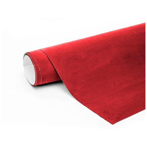 Алькантара пленка автомобильная - 10*1,46 м, цвет: красный