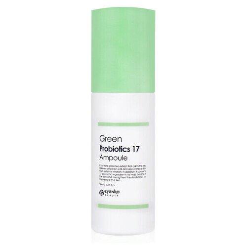 Купить Eyenlip Green Probiotics 17 Ampoule Успокаивающая сыворотка с пробиотиками и зеленым чаем, 50 мл