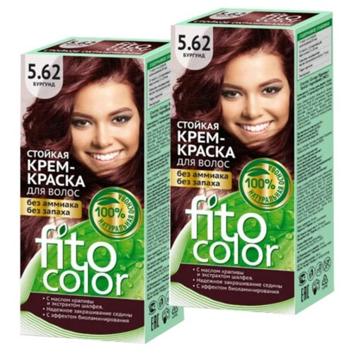 Купить Fito косметик Fitocolor крем-краска для волос набор 2 шт., 5.62 бургунд