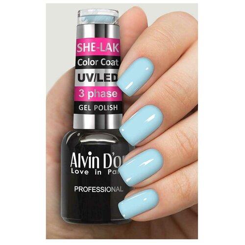 Купить Гель-лак для ногтей Alvin D'or She-Lak Color Coat, 8 мл, 35134