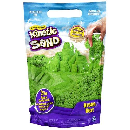 Кинетический песок Kinetic Sand большой (6047182/6047183/6047184/6047185), зеленый, 0.91 кг, пакет