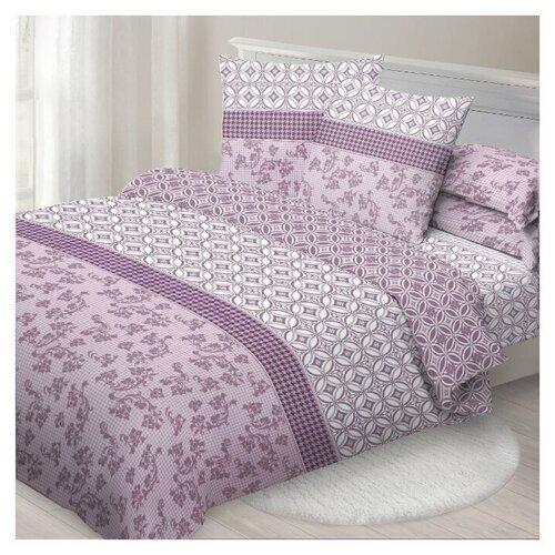 Постельное белье 2-спальное макси Спал Спалыч Рената, бязь, 70 х 70 см, фиолетовый