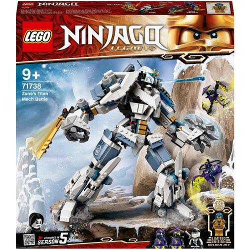 Фото - Конструктор LEGO Ninjago 71738 Битва с роботом Зейна конструктор lego ninjago бронированный носорог зейна