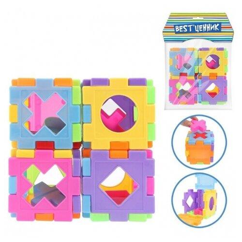 Купить Кубик-сортер развивающий с логическими фигурами, S+S Toys, Сортеры