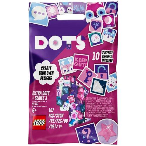 Фото - Дополнительные детали LEGO DOTS 41921 Тайлы DOTS — серия 3 lego lego dots большой набор тайлов