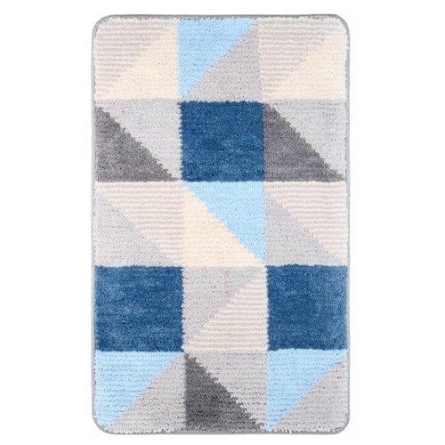Коврик для ванной Fixsen Visa 1-ый, FX-5005X, серо-голубой, 50х80см недорого