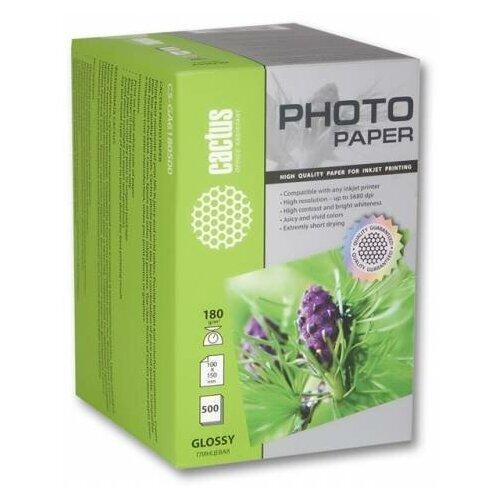 Фото - Бумага cactus 10x15 CS-GA6180500 180 г/м² 500 лист., белый бумага cactus cs ga6180500 10x15см 180г кв м глянцевая 500л