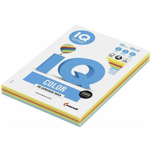 Фото - Бумага IQ Color А4 160 г/м² 100 лист., микс интенсив RB02 бумага цветная iq color а4 160 г м2 100 л 5 цветов x 20 листов микс интенсив rb02