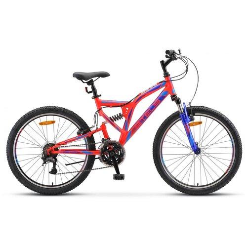 Подростковый горный (MTB) велосипед STELS Mustang V 24 V020 (2018) красный 16 (требует финальной сборки) велосипед stels 2612 v