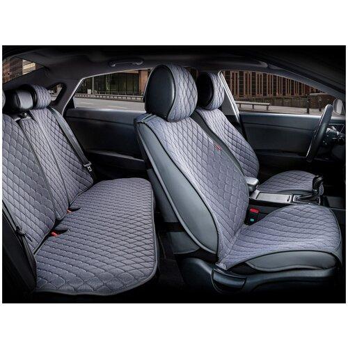 Комплект накидок на автомобильные сиденья CarFashion CROWN серый/серый/темно-серый