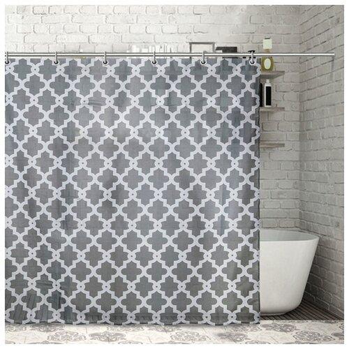 Фото - Штора для ванной Доляна Марокко 180х180 1515861 марокко штора для ванной доляна графика 180х180 732658 синий