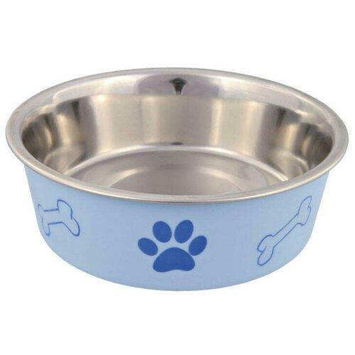 Фото - Миска TRIXIE 25243 с цветным покрытием для собак 700 мл в ассортименте trixie бутылка trixie дорожная для воды для собак 500 мл пластиковая в ассортименте