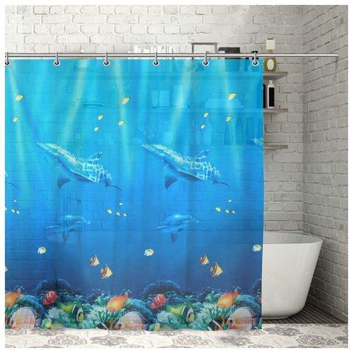Фото - Штора для ванной Морская, 180х180 см, EVA 732899 штора для ванной доляна графика 180х180 732658 синий