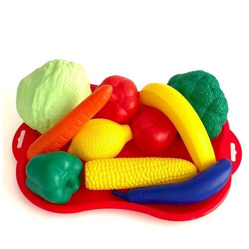 Купить Набор продуктов ПК Лидер фрукты, овощи, № 4, с подносом, сетка (МТ3792), Leader, Игрушечная еда и посуда