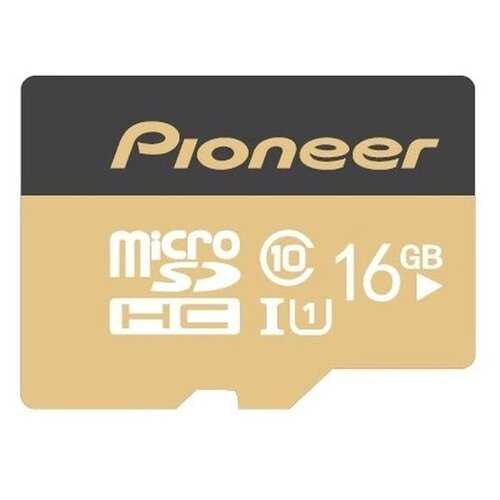 Фото - Карта памяти Pioneer MicroSD Class 10 UHS-I (U1) 16 GB, чтение: 70 MB/s, адаптер на SD карта памяти pioneer microsd class 10 uhs i u1 16 gb чтение 70 mb s адаптер на sd