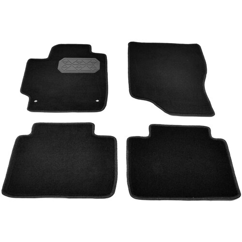 Комплект ковриков салона NorPlast NPL-VTe-880-090 для Toyota Camry 4 шт. черный