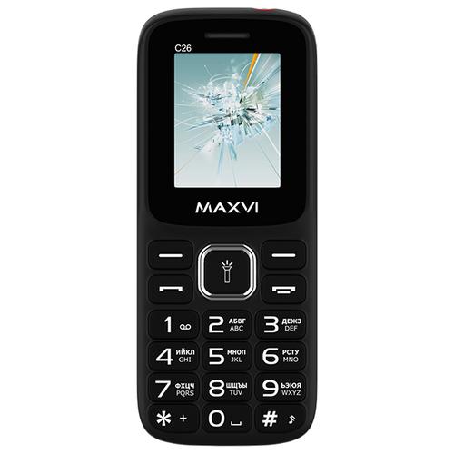 Телефон MAXVI C26 черный / красный