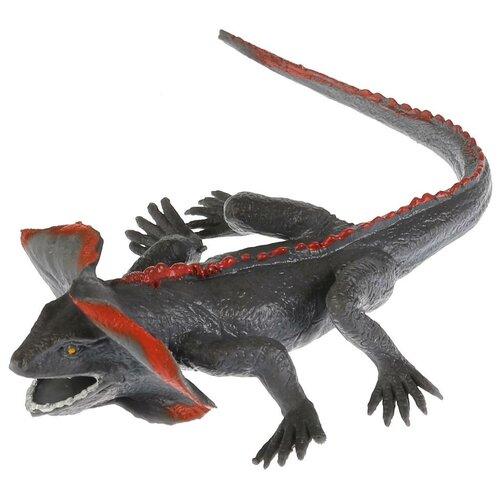 Игрушка-мялка Играем вместе Плащеносная ящерица W6328-71BT-R серый