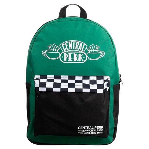 Рюкзак Bioworld Централ Перк Друзья (Friends Central Perk Green Checker Mixblock Backpack)