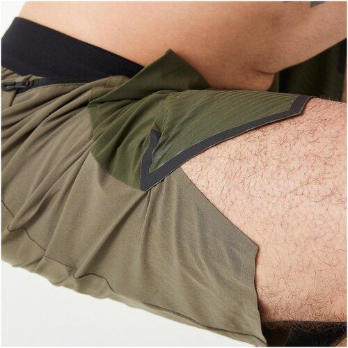 Шорты для кросс-тренинга мужские хаки, размер: M RU46, цвет: Коричневый Хаки/Бронзовый Хаки DOMYOS Х Декатлон