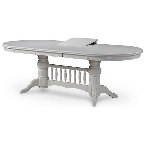 Стол кухонный Avanti Louisiana, раскладной, ДхШ: 180 х 100 см, длина в разложенном виде: 225.7 см, белый стол кухонный signal albert раскладной дхш 100 х 60 см длина в разложенном виде 140 см белый лак