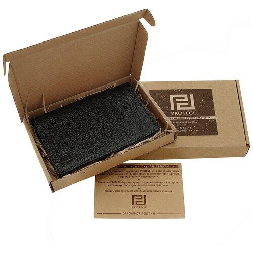 Обложка для паспорта ручной работы Protege, из натуральной кожи, цвет черный