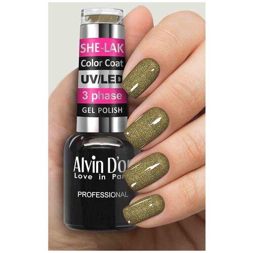 Купить Гель-лак для ногтей Alvin D'or She-Lak Color Coat, 8 мл, 3578