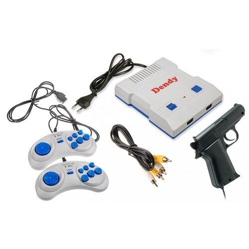 Игровая приставка Dendy Junior 300 встроенных игр + световой пистолет белый