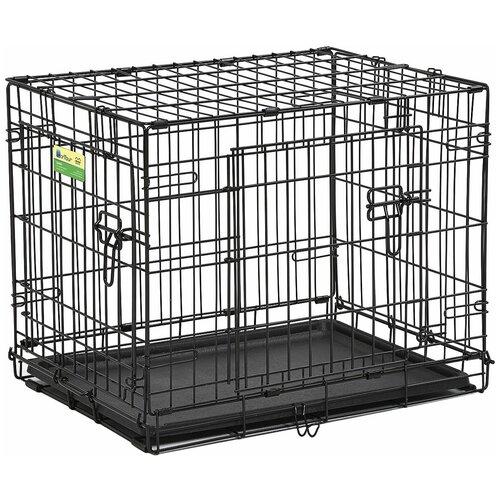 Клетка для собак Midwest Contour 830DD 78.7х50.8х54.6 см черный