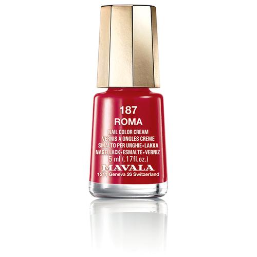 Фото - Лак Mavala Nail Color Cream, 5 мл, 187 Roma лак для ногтей nail color cream 5мл 187 roma