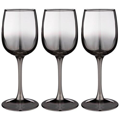 Набор бокалов из 3 шт графитовый омбре 300 мл Lefard (194-483)