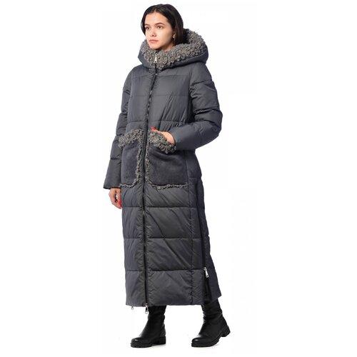 Зимняя куртка женская EVACANA 21174 размер 50, серый