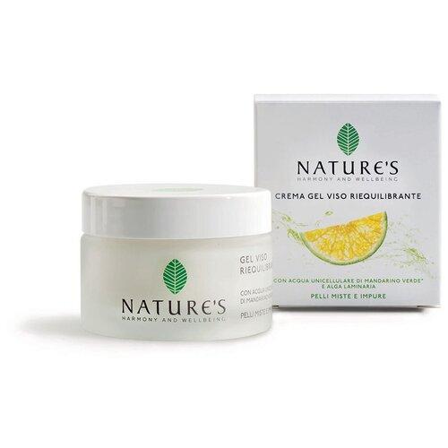 Матирующий крем-гель для лица. восстанавливающий баланс - Nature's - Balancing Face Gel Cream 50 мл.