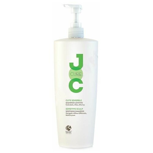 Фото - Barex шампунь JOC Cure Soothing успокаивающий с календулой, алтеем и бессмертником, 1 л barex шампунь joc cure energizing против выпадения волос с имбирем корицей и витаминами 250 мл