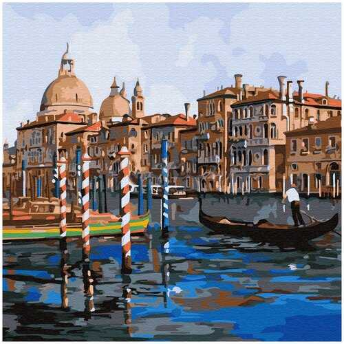 Купить Картина по номерам Molly 30х30 см Каналы Венеции, Картины по номерам и контурам